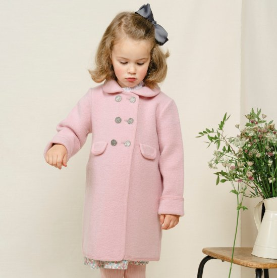 <img class='new_mark_img1' src='https://img.shop-pro.jp/img/new/icons14.gif' style='border:none;display:inline;margin:0px;padding:0px;width:auto;' />Amaia Kids - Razorbil coat - Pink アマイアキッズ - ウールコート