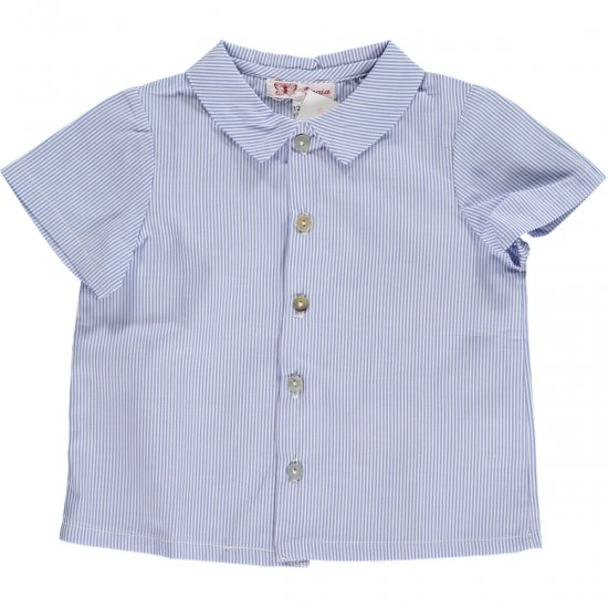 Amaia Kids - Chickadee shirt - stripes アマイアキッズ - 半袖シャツ