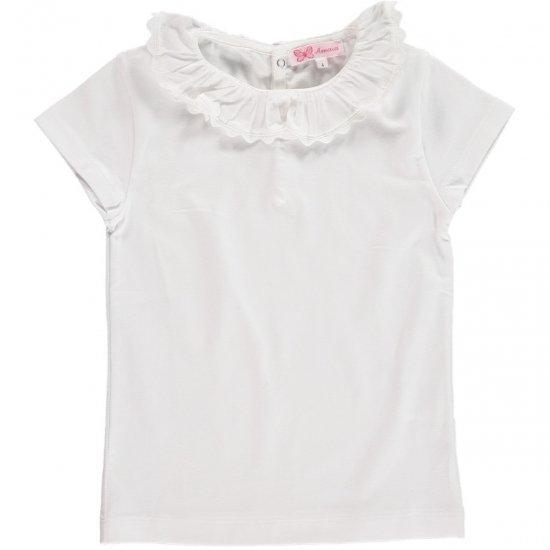 Amaia Kids - Chelsea Top short sleeve - White アマイアキッズ - 半袖トップス・ボディースーツ