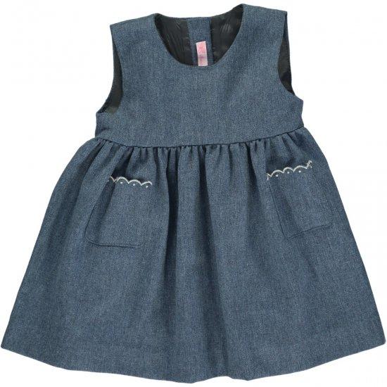 Amaia Kids - Pichi dress - Blue アマイアキッズ - ジャンパースカート