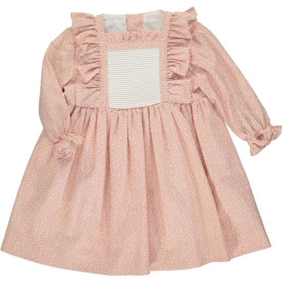 Amaia Kids - Coupe dress - Pink アマイアキッズ - フリルワンピース