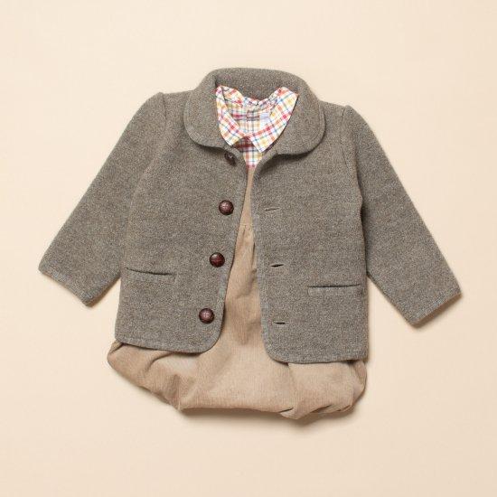 Amaia Kids - Redwink jacket - Grey Brown アマイアキッズ - ウールジャケット