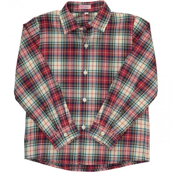 Amaia Kids - Chickadee shirt longsleeve- Tartan アマイアキッズ - タータンチェック長袖シャツ