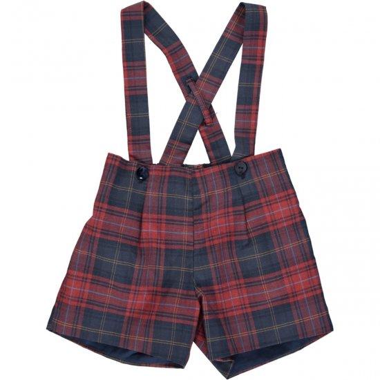 Amaia Kids - Eliott shorts - アマイアキッズ - タータンチェックパンツ