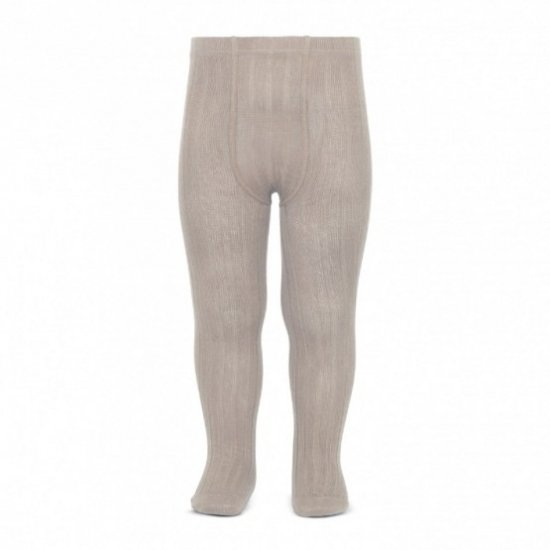Amaia Kids - Ribbed tights - Oat アマイアキッズ - タイツ