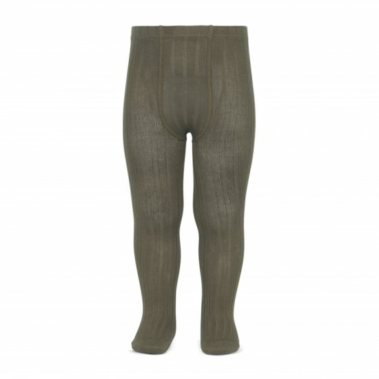 Amaia Kids - Ribbed tights - Stone アマイアキッズ - タイツ