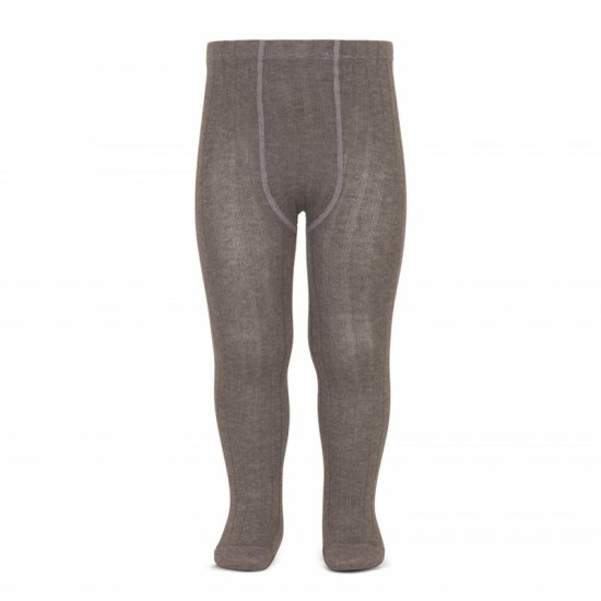 Amaia Kids - Ribbed tights - Chestnut アマイアキッズ - タイツ
