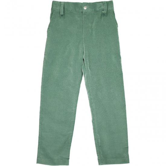 Amaia Kids - Theodore trousers - Green アマイアキッズ - コーデュロイパンツ