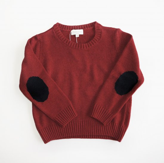 Amaia Kids - Paul jumper- Burgundy アマイアキッズ - セーター
