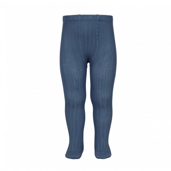 Amaia Kids - Ribbed tights - Jean アマイアキッズ - タイツ