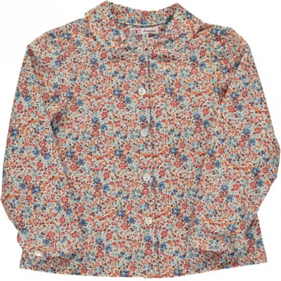 Amaia Kids - Cecile blouse - liberty red アマイアキッズ - リバティプリントブラウス