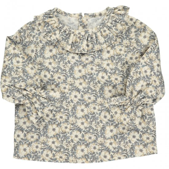 Amaia Kids - Amelia blouse - liberty grey アマイアキッズ - リバティプリントブラウス