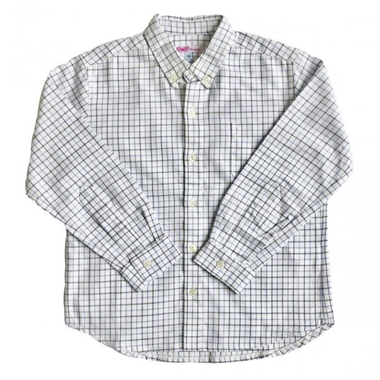 Amaia Kids - Chickadee boy shirt - blue check アマイアキッズ - シャツ