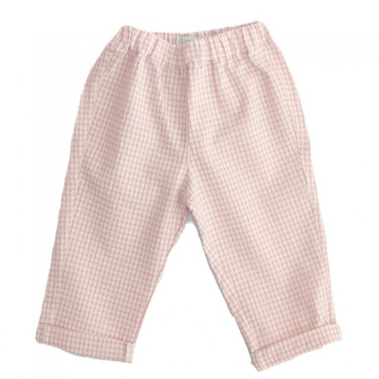 Amaia Kids - Tito trousers - Pink plaid アマイアキッズ - チェックパンツ