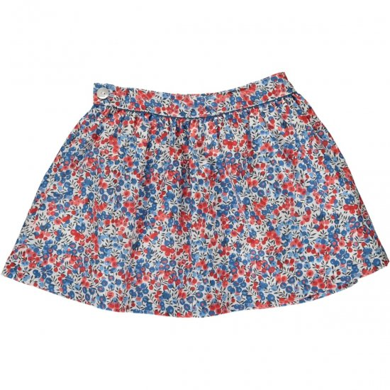 Amaia Kids - Eloise skirt - Liberty red アマイアキッズ - リバティプリントスカート