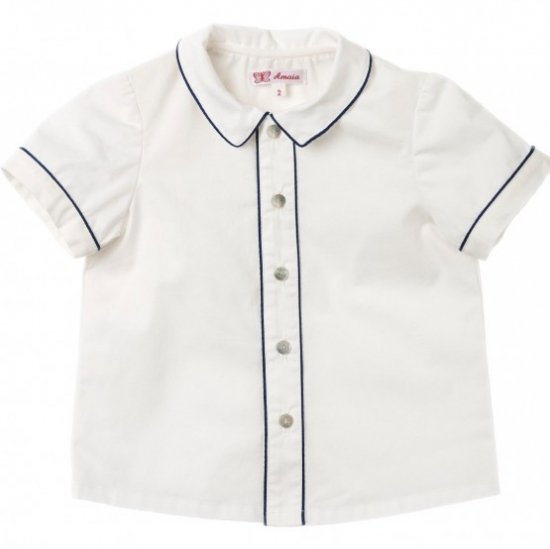 Amaia Kids - Daniel shirt shortsleeves - Navy アマイアキッズ - シャツ