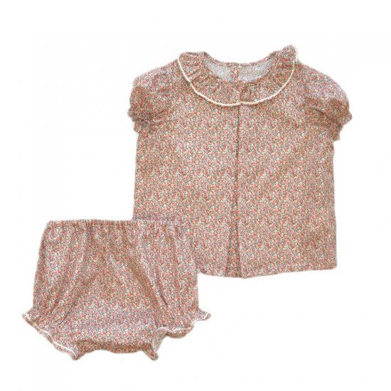 <img class='new_mark_img1' src='https://img.shop-pro.jp/img/new/icons20.gif' style='border:none;display:inline;margin:0px;padding:0px;width:auto;' />【30%OFF】Amaia Kids - Diane set - Liberty pink アマイアキッズ - リバティプリントセットアップ