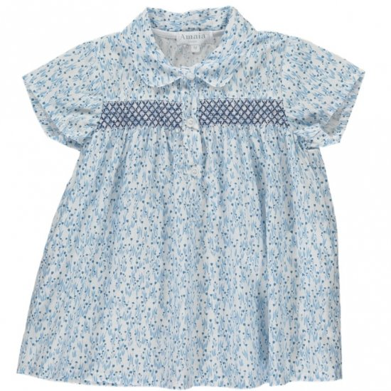 <img class='new_mark_img1' src='https://img.shop-pro.jp/img/new/icons20.gif' style='border:none;display:inline;margin:0px;padding:0px;width:auto;' />【40%OFF】Amaia Kids - Barcelona top アマイアキッズ - スモッキング刺繍ブラウス