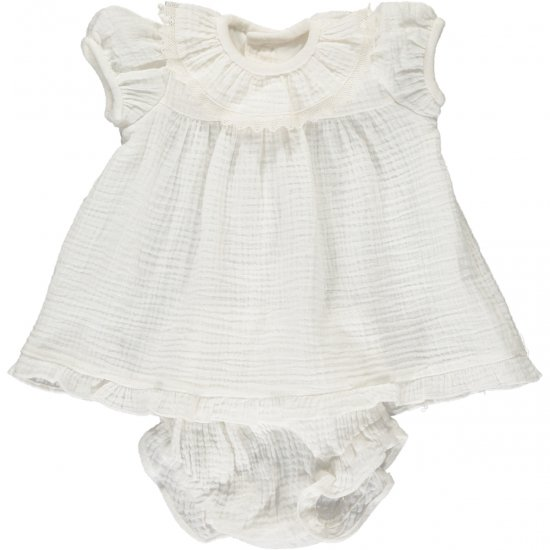 <img class='new_mark_img1' src='https://img.shop-pro.jp/img/new/icons20.gif' style='border:none;display:inline;margin:0px;padding:0px;width:auto;' />【50%OFF】Amaia Kids - Angelina set - White アマイアキッズ - セットアップ