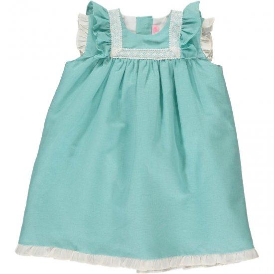 Amaia Kids - Menorca dress - Aqua アマイアキッズ - ワンピース