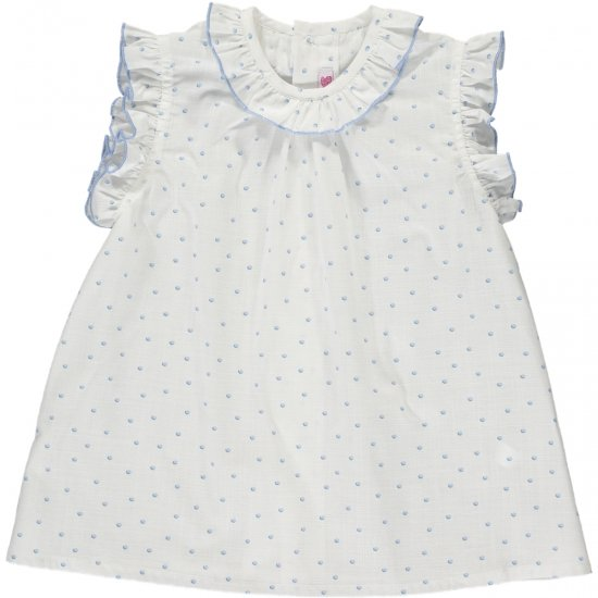<img class='new_mark_img1' src='https://img.shop-pro.jp/img/new/icons20.gif' style='border:none;display:inline;margin:0px;padding:0px;width:auto;' />【40%OFF】Amaia Kids - Trinite top - Blue アマイアキッズ - ブラウス