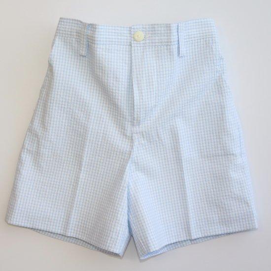 Amaia Kids - Gull shorts - Blue gingham アマイアキッズ - パンツ