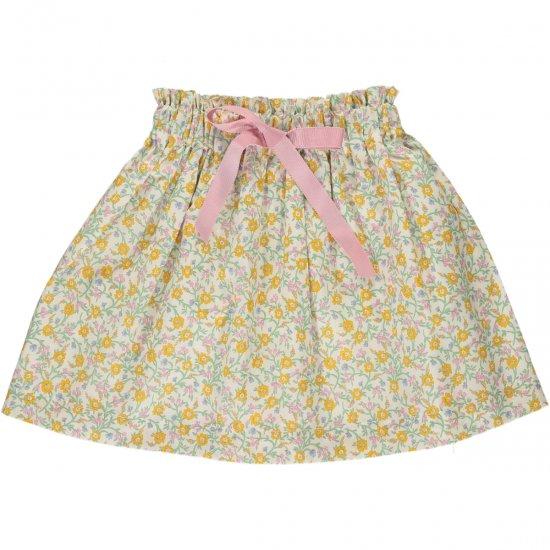 Amaia Kids - Anna skirt - Liberty yellow アマイアキッズ - リバティプリントスカート
