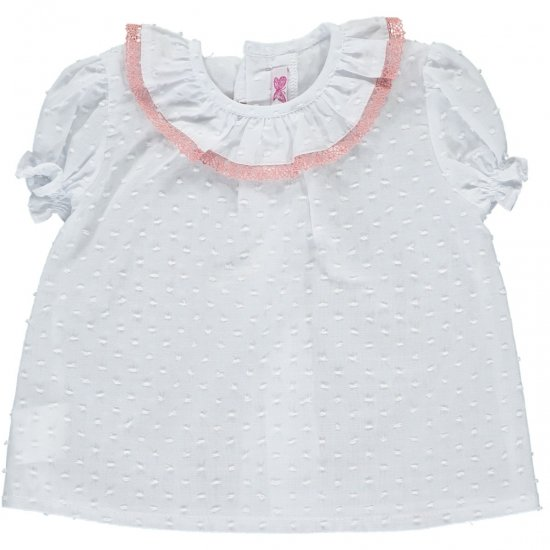 Amaia Kids - Kensington top - Pink lace アマイアキッズ - ブラウス