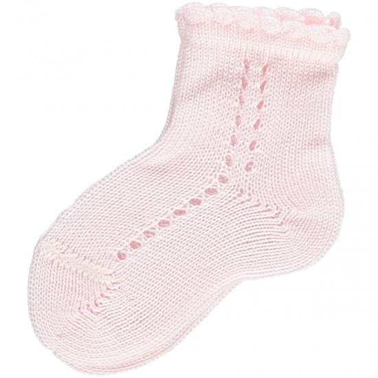 Amaia Kids - Openwork short socks - Pink アマイアキッズ - ソックス