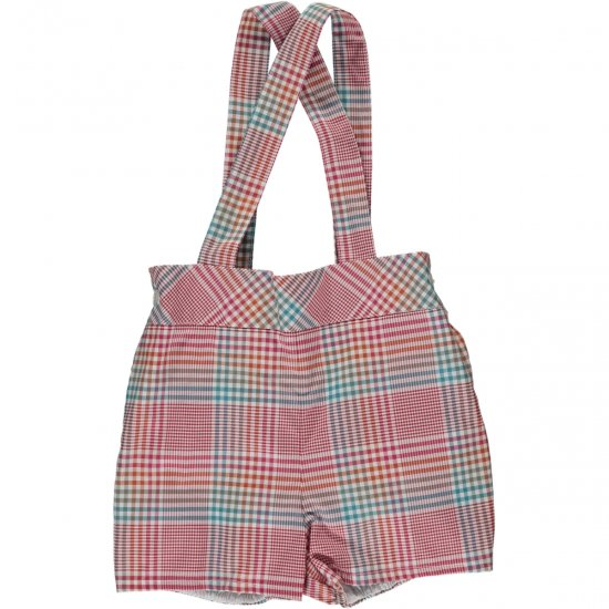 Amaia Kids - Spinach shorts - Plaid アマイアキッズ - チェックパンツ