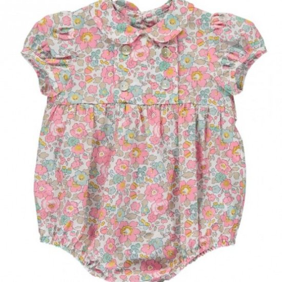 Amaia Kids - Babydoll all in one - Liberty アマイアキッズ - リバティプリントベビーロンパース