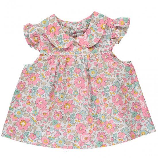 <img class='new_mark_img1' src='https://img.shop-pro.jp/img/new/icons20.gif' style='border:none;display:inline;margin:0px;padding:0px;width:auto;' />【20%OFF】Amaia Kids - Lise baby top - Liberty pink アマイアキッズ - リバティプリントブラウス