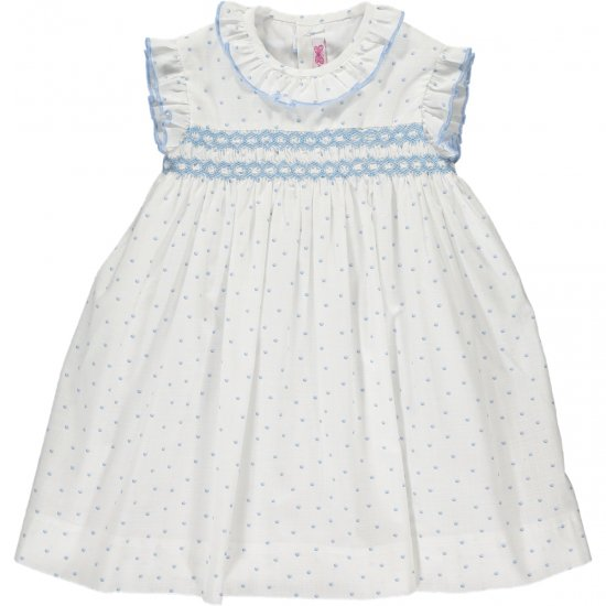 Amaia Kids - Carnac dress アマイアキッズ - スモッキング刺繍ワンピース