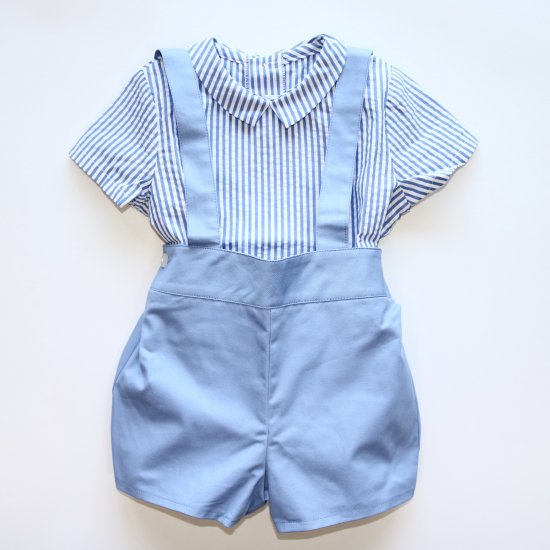 Amaia Kids - Spinach shorts - Light blue アマイアキッズ - パンツ