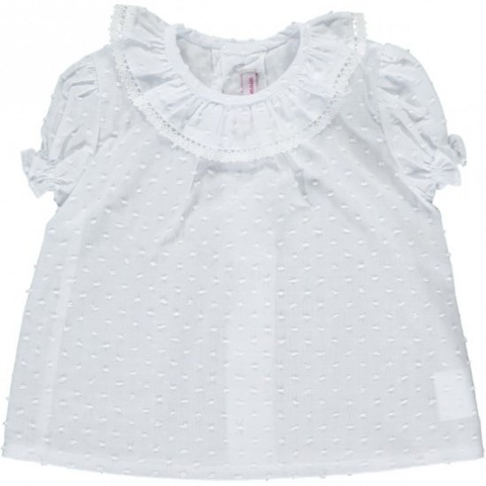 <img class='new_mark_img1' src='https://img.shop-pro.jp/img/new/icons20.gif' style='border:none;display:inline;margin:0px;padding:0px;width:auto;' />【40%OFF】Amaia Kids - Kensington top - White lace アマイアキッズ - ブラウス