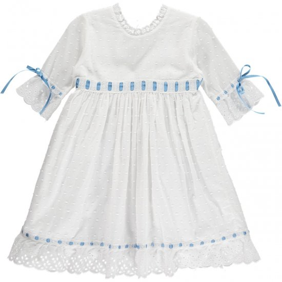 Amaia Kids - Riley dress Capri Blue アマイアキッズ -ドレス