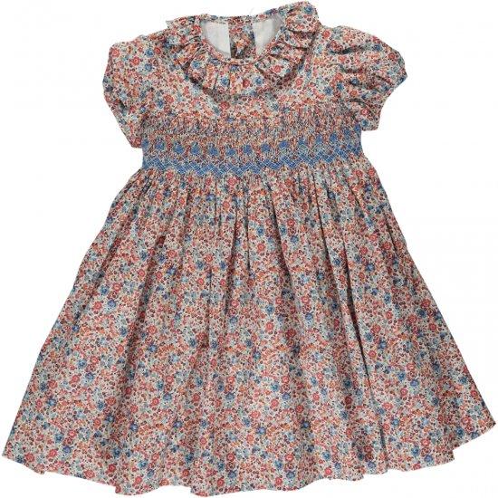 Amaia Kids - Moohren dress - Liberty rust アマイアキッズ - リバティプリントワンピース