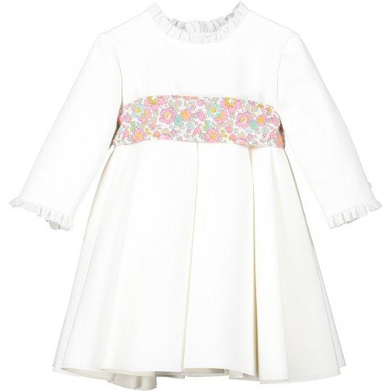 【オーダー受付】 Amaia Kids - Eugenie dress - Liberty pink アマイアキッズ - リバティサッシュドレス