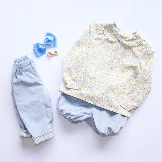 Amaia Kids - Coline blouse - Liberty yellow アマイアキッズ - リバティプリントブラウス
