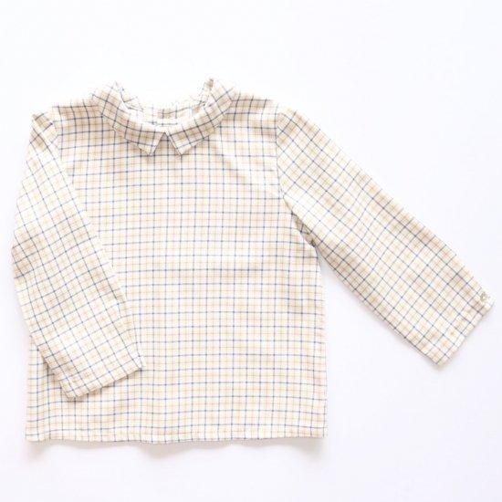 Amaia Kids - Mallard shirt - Beige/Blue checked アマイアキッズ - チェック柄シャツ