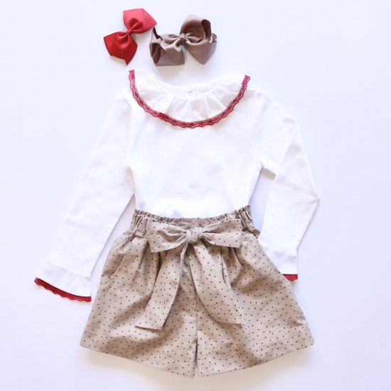 <img class='new_mark_img1' src='https://img.shop-pro.jp/img/new/icons20.gif' style='border:none;display:inline;margin:0px;padding:0px;width:auto;' />【50%OFF】Amaia Kids - Pickwick shorts アマイアキッズ - ドット柄パンツ