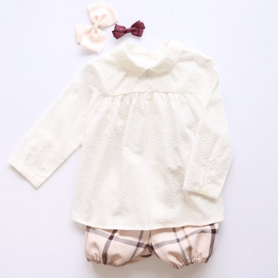 <img class='new_mark_img1' src='https://img.shop-pro.jp/img/new/icons20.gif' style='border:none;display:inline;margin:0px;padding:0px;width:auto;' />【40%OFF】Amaia Kids - Coline blouse - White アマイアキッズ - ブラウス