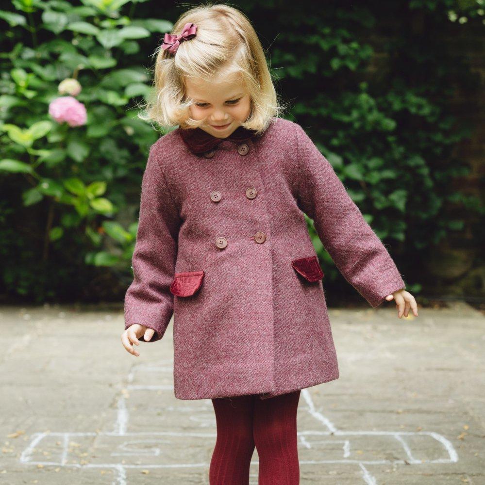 Amaia Kids - Classic coat - Burgundy アマイアキッズ - コート