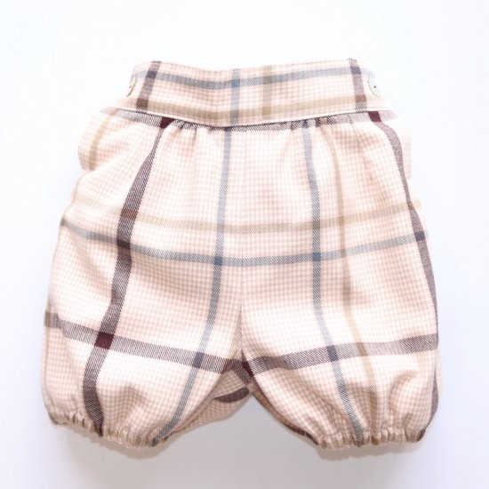 Amaia Kids - Humble bloomer - Pink/Brown checked アマイアキッズ - チェック柄ブルマ