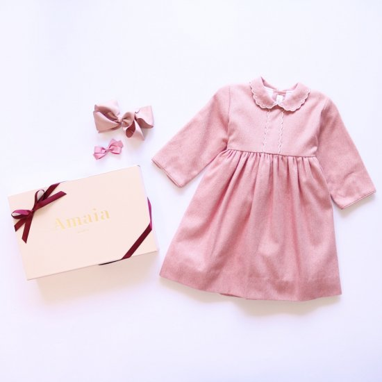 <img class='new_mark_img1' src='https://img.shop-pro.jp/img/new/icons20.gif' style='border:none;display:inline;margin:0px;padding:0px;width:auto;' />【40%OFF】Amaia Kids - Eleonoire dress - Pink アマイアキッズ - ワンピース