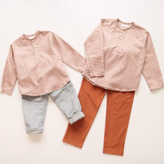 <img class='new_mark_img1' src='https://img.shop-pro.jp/img/new/icons20.gif' style='border:none;display:inline;margin:0px;padding:0px;width:auto;' />【40%OFF】Amaia Kids - Victor shirt - Red/Grey checked アマイアキッズ - チェック柄シャツ