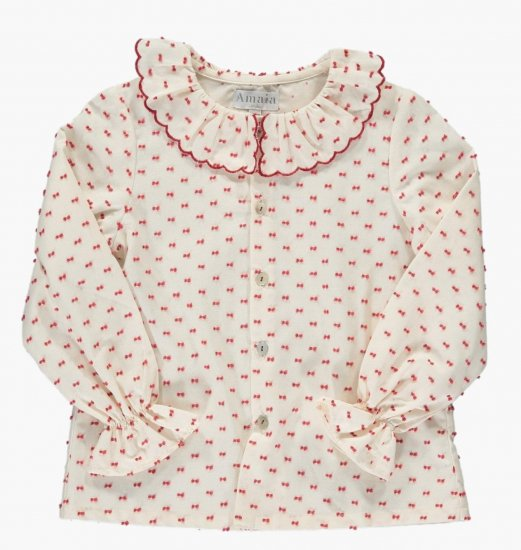 <img class='new_mark_img1' src='https://img.shop-pro.jp/img/new/icons14.gif' style='border:none;display:inline;margin:0px;padding:0px;width:auto;' />Amaia Kids - Snowflake blouse アマイアキッズ - ブラウス