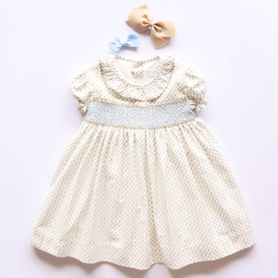 <img class='new_mark_img1' src='https://img.shop-pro.jp/img/new/icons20.gif' style='border:none;display:inline;margin:0px;padding:0px;width:auto;' />【40%OFF】Amaia Kids - Marina dress アマイアキッズ - スモッキング刺繍ワンピース