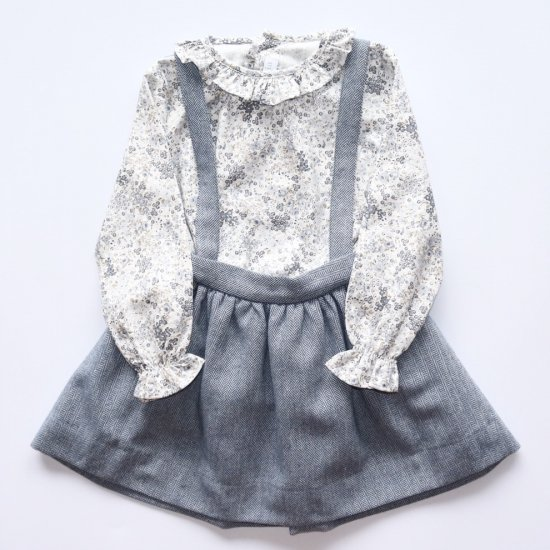 <img class='new_mark_img1' src='https://img.shop-pro.jp/img/new/icons14.gif' style='border:none;display:inline;margin:0px;padding:0px;width:auto;' />Amaia Kids - Valeria skirt - Blue herringbone アマイアキッズ - スカート