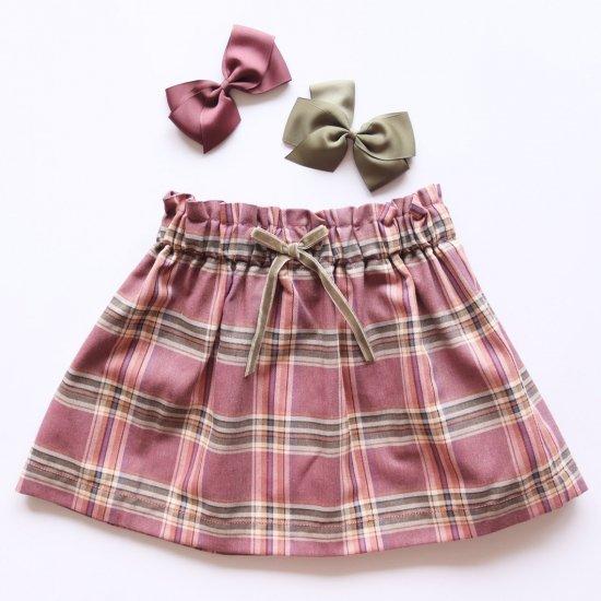 Amaia Kids - Anna skirt - Plum tartan アマイアキッズ - チェック柄スカート